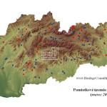 Pamiatkové územia na Slovensku - mapa